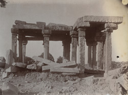 General view of ruined temple, Sakrar, Jhansi District
